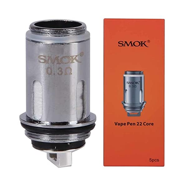 SMOK Vape Pen 22 Replacement Coil 0.3 ohm Pack of 5 3