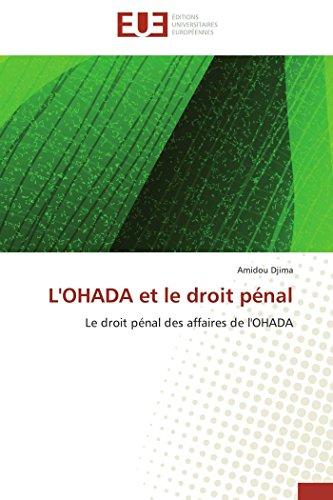 L'ohada et le droit pénal