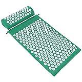 ValueHall Set per agopressione Cuscino per Agopressione Digitopressione Mat Tappetino per Agopressione tappetino da massaggio Stuoia di massaggio V7009-1 (verde)