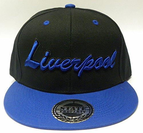 Neuf Unisexe Casquette de Baseball avec des Noms de Ville London Manchester Liverpool Chelsea Essex Big Logo à l'avant Hip Hop Casquette Chapeau - - T