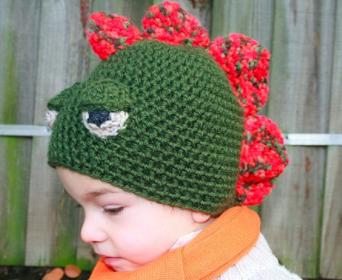 Crochet Pattern Crochet boys dinosaur hat includes 4 sizes from newborn to adult (Crochet Animal hats Book 1) (English Edition)
