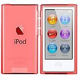 iPod Nano 7G Hülle in Rot - Silikonhülle Case Schutzhülle für Apple iPod Nano 7 Generation - 2015 Version