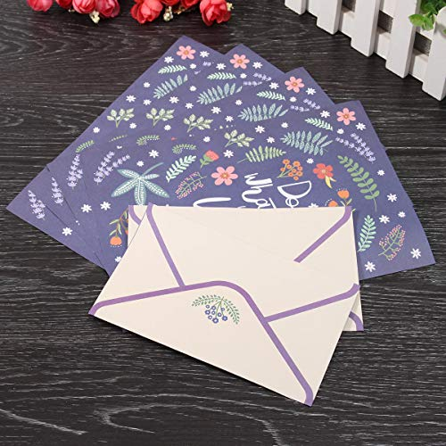 Süße schöne Blume Tier Brief Pad Schreiben Papier Büro Schule Supplie 4 Papier und 2 Umschläge Set - #01