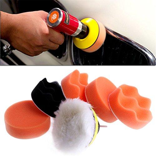 ECYC® 7 teile / satz Automobil M14 Auto Polieren Pad Set Fahrzeug Reinigung Waschen Polish Schwamm Rad 3 zoll