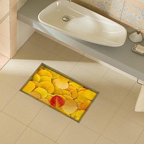 XXTT-Stanza da bagno 3D contro il soggiorno corridoio cucina sala da pranzo bagno impermeabile antiscivolo Maple Leaf Chinese Restaurant auto adesivi sul terreno 900 * 580 mm (35,4 in * 22,8)