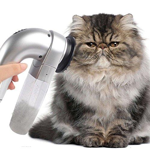 GEZICHTA Aspirador de Pelo para Mascotas, Limpiador de Pelo Eléctrico para Mascotas, Limpiador de Pelo para Perro, Gato, Herramienta de Peluquería, Peine Aspirador