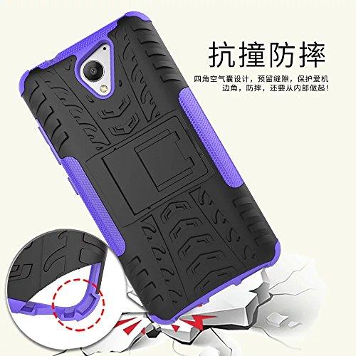 YHUISEN ZTE Blade A510 Case, Hyun Pattern Dual Layer Hybrid Armor Kickstand 2 In 1 Shockproof Case Cover für ZTE Blade A510 5.0 Zoll ( Color : Black ) Purple