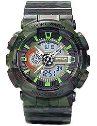 de56915b034d Jóvenes adultos niños niñas UV400 deporte Militar 50 M impermeable relojes  golpes resistir para senderismo verde