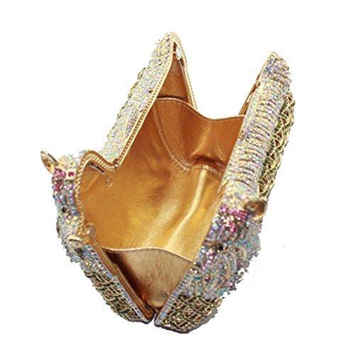 Borsa Da Sera Di Lusso Diamante Borsa Di Modo Banchetto Delle Donne Gold