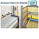 Quadro-Secura® Basic R4⁺ Bauherren-Paket 2 für Gebäude ohne Keller | Mehrsparten-Hauseinführung | Reihen-Ausführung