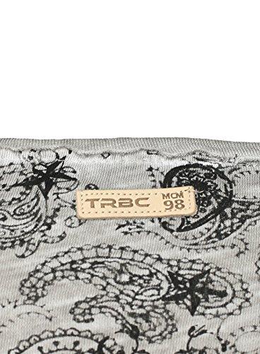Redbridge Herren T-Shirt TATTOO im Vintage Look mit Löcher Applikationen Grau