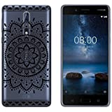 yayago Hülle für Nokia 8 Hülle Tribal Silikon Schutzhülle Hülle Case Backcover Tattoo Ornament Tribal Design transparent Tasche