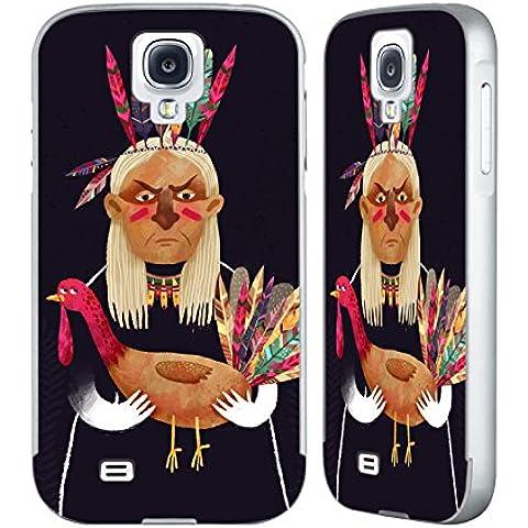 Ufficiale Oilikki Nativo americano Animali Argento Cover Contorno con Bumper in Alluminio per Samsung Galaxy S4 I9500