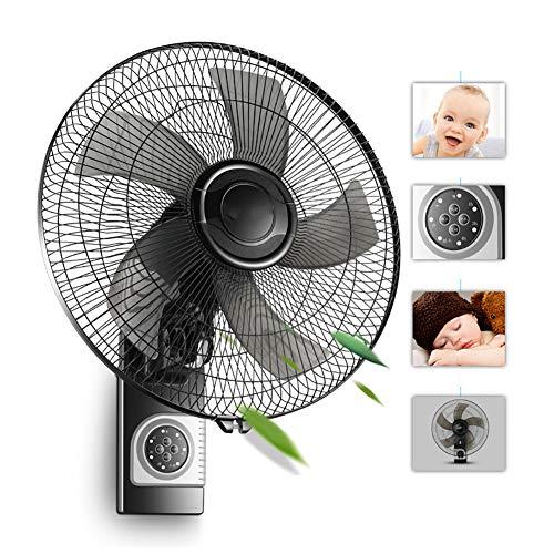 ZDYLM-Y Wandventilator mit Fernbedienung, 16 Zoll Oszillierende Wandmontage Ventilator, 3 Speed Mute, 7H Timing, für Familien - Speed-fernbedienung