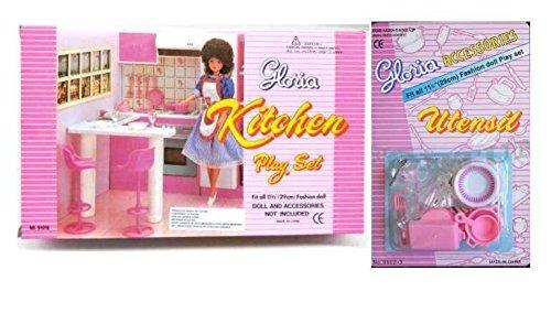 Gloria 0736842450849 New Barbie Doll House Furniture Set Of 2