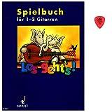 Los geht's! Spielbuch für 1-3 Gitarren für Kinder für den Einzel- und Gruppenunterricht - Lieder und Stücke zum Singen und Spielen mit Dunlop Plek