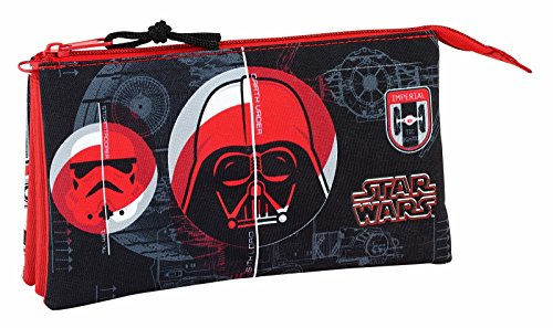 """Safta Estuche Escolar Star Wars""""Galactic Mission"""" Oficial 220x30x100mm"""