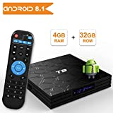 T9 Android 8.1 TV BOX, 4GB RAM 32GB ROM RK3328 Quad Core smart