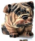 Chop - Riesige XXL Bulldogge | Keramik Spardose - Handgearbeitet | B/L/H: 30x45x29cm | Sparbüchse, Sparschwein