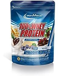 IronMaxx 100% Whey Protein Pulver / Proteinreiches Eiweißpulver für Proteinshake / Wasserlösliches Proteinpulver mit neutralem Geschmack / 1 x 500 g Beutel