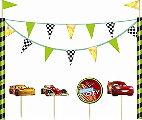 Neon Disney Cars Cake Decorations
