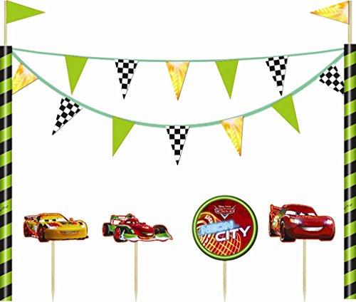Disney NEON Cars Kuchen Dekorationen (Disney Kuchen Cars)