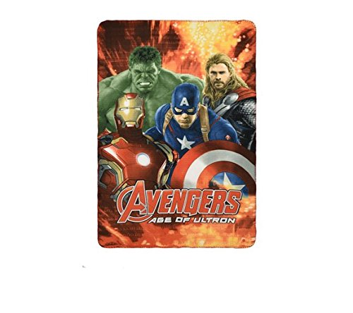 Bambini ufficiale marvel the avengers coperta in pile 100x 150cm, red, 100 x 150 cm