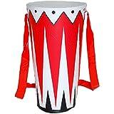 Unbekannt Aufblasbare Trommel 30cm Dekoration Musik Drum aufblasbar Musikinstrument Partydeko