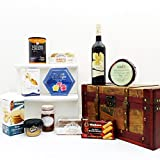 Red Wine & Treats Vintage Chest Hamper with 750ml...