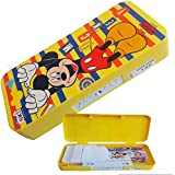 PP Disney Micky And Friends Hexa Open With Code Lock Multipurpose Kids Stationary Holder Pen/Pencil Holder Case Pencil Box With Stationary For School Kids Boys & Girls (Colours May Vary)