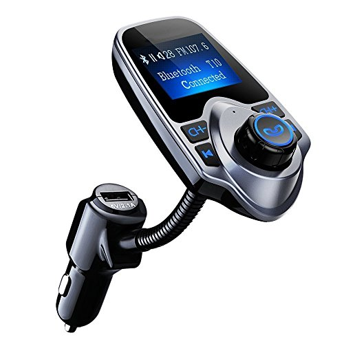 "FM Transmitter,Pictek bluetooth transmitter,Wireless Radio Adapter,1,44""Display,TF Card,USB Anschluss,3.55mm AUX-Port für iPhone X/8/7/7 Plus/6S/Plus,Galaxy S7/S6/Note 5 und andere iOS/Android Handy"