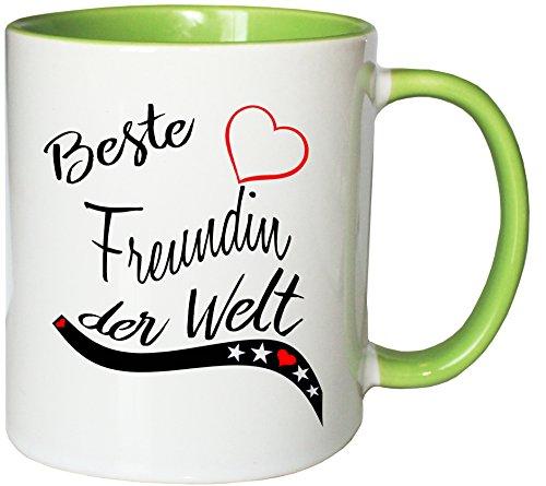 Mister Merchandise Kaffeebecher Tasse Beste Freundin der Welt BFF Freund Mädchen Freundschaft...