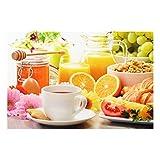 Bilderwelten Spritzschutz Glas - Sommerlicher Frühstückstisch - Quer 2:3, Größe HxB: 40cm x 60cm