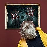 wandaufkleber wandtattoos Ronamick Fröhliches Halloween Haushalts Zimmer Wandaufkleber Wandbild Dekor Aufkleber Removable Terror Wandtattoo Wandaufkleber Sticker Wanddeko (B)