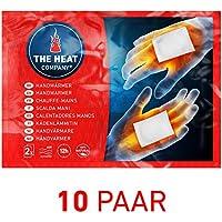 THE HEAT COMPANY Scaldamani - EXTRA CALDO - Cuscini termici - 12 ore mani calde - pronti all'uso - autoriscaldante - puro naturale - 10 paia
