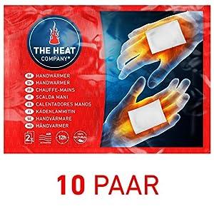 THE HEAT COMPANY Handwärmer – EXTRA WARM – Taschenwärmer – 12 Stunden warme Hände – sofort einsatzbereit – luftaktiviert – rein natürlich – 10 oder 40 Paar