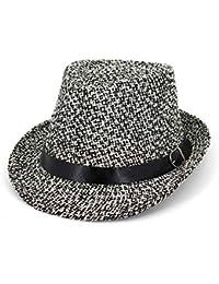 HYXUM Verano Mujer Hombres Gorra de Paja Sombrero de Jazz Sombrero de Playa Sombrero  para el Sol… 1e3b4f4a3a91