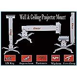 ELCOR Projector Universal wall/Ceiling Mount kit 2ft Adjustable 15 Degree Tilt Option.