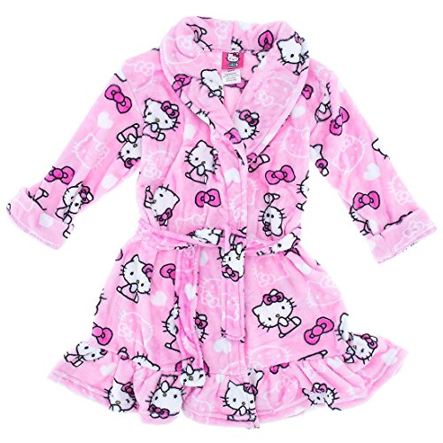 Hello Kitty Big Girls 'lazo rosa albornoz