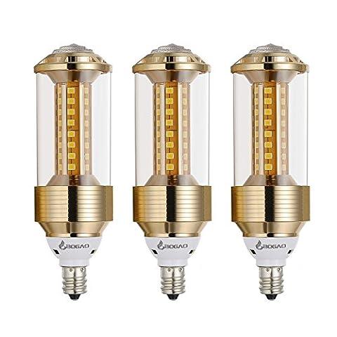 Bogao (lot de 3) E14LED Maïs Ampoule, 85–265V, 15W Blanc lumière du jour lampe de maïs LED, 100–120W équivalent ampoules, E14Base, 1500lumens Lampes LED, variateur d'intensité (Jzt, 6000K), blanc, E14, 15.00 wattsW 230.00 voltsV