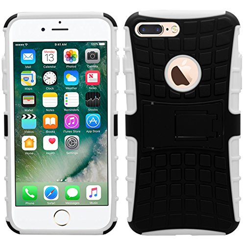 Samrick durable antidérapant les chocs et impacts Proof arrière rigide Coque de protection avec support pour Apple iPhone 7 Plus – Passoire, noir, iPhone 7 Plus blanc
