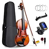 Vangoa 4/4 Full Size Violin Fiddle Concerto with Violin Case, Shoulder Rest, Rosin