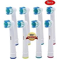 Beauty Nymph Genérico Oral B Precision Clean Compatible Cepillo de dientes Cabezales de repuesto
