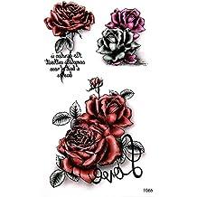 Roses Fleurs tatouage tattoo Faux tatouage 70