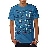 Chemie Uncool Leben Labor Routine Herren NEU Königsblau S T-shirt | Wellcoda