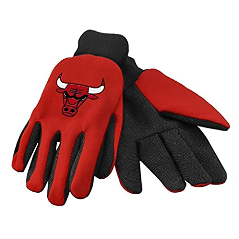NBA Chicago Bulls Gloves Two Tone Utility Gloves