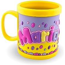 Mi nombre Taza 3d taza Maria Amarillo para Niños de plástico taza vaso