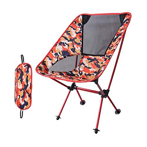 zhbotaolang Portable Pliant Chaise Plage Siège - Poids Léger Plein Air Pêche Barbecue Pique-Nique Camping Voyageant Marchant Randonnée Repos Tabouret Rouge