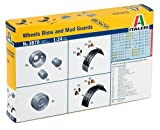 Italeri 3870 - Wheels Rims And Mud Guards Model Kit  Scala 1:24