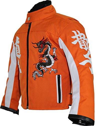 Kinder Motorrad Jacke in orange (XL)